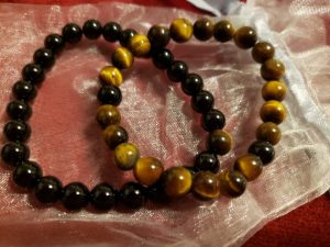 Onyx and tigers eye set